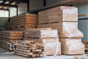 Timber stored for optimum drying